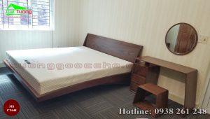 giường gỗ óc chó CT648
