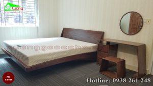 giường gỗ óc chó CT648c