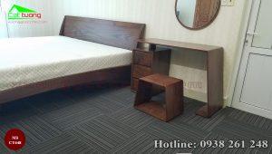 giường gỗ óc chó CT648d