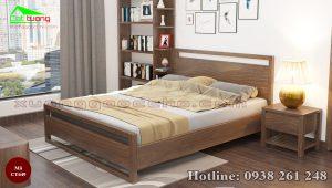 giường gỗ óc chó CT649