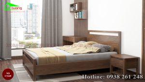 giường gỗ óc chó CT649a