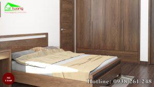 giường gỗ óc chó CT649c