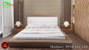 giường gỗ óc chó CT650a