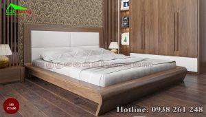 giường gỗ óc chó CT650c