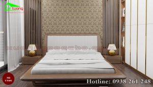 giường gỗ óc chó CT651