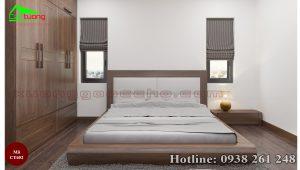 giường gỗ óc chó CT652