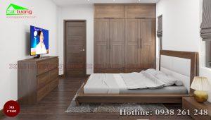 giường gỗ óc chó CT652a