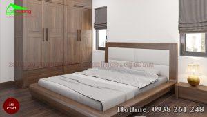 giường gỗ óc chó CT652b