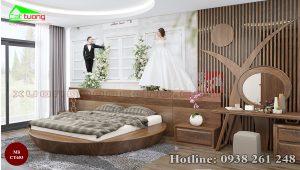 giường gỗ óc chó CT653