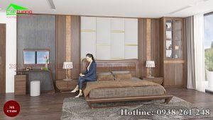 giường gỗ óc chó CT654