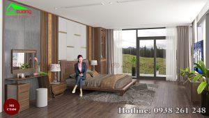 giường gỗ óc chó CT654b