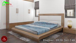 giường gỗ óc chó CT655