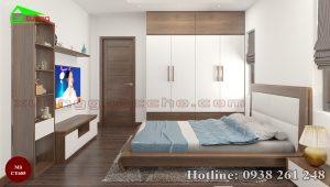 giường gỗ óc chó CT655b