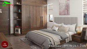 giường gỗ óc chó CT656a