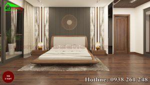 giường gỗ óc chó CT657