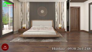 giường gỗ óc chó CT657a