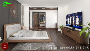 giường gỗ óc chó CT657b