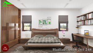 giường gỗ óc chó CT658a
