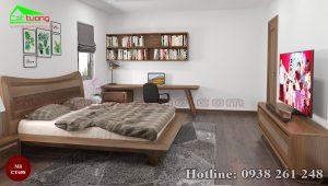 giường gỗ óc chó CT658c