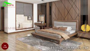 giường gỗ óc chó CT659a