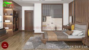 giường gỗ óc chó CT659c