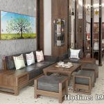 sofa gỗ óc chó CT159