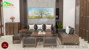 sofa gỗ óc chó CT159a