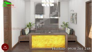 sofa gỗ óc chó CT159c