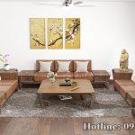 sofa gỗ óc chó CT160
