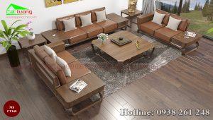 sofa gỗ óc chó CT160b