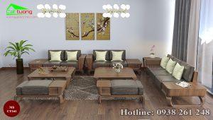 sofa gỗ óc chó CT161