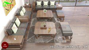 sofa gỗ óc chó CT161d