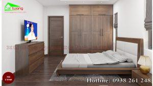 tủ quần áo gỗ óc chó CT545