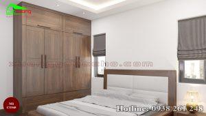 tủ quần áo gỗ óc chó CT545a