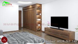 tủ quần áo gỗ óc chó CT546a