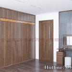tủ quần áo gỗ óc chó CT547