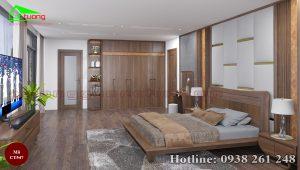 tủ quần áo gỗ óc chó CT547a