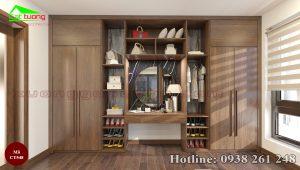 tủ quần áo gỗ óc chó CT548