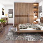 tủ quần áo gỗ óc chó CT551