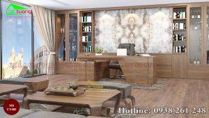 tủ trang trí gỗ óc chó CT483