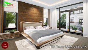 giường gỗ óc chó CT660