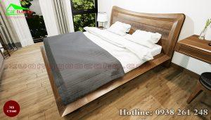 giường gỗ óc chó CT660a