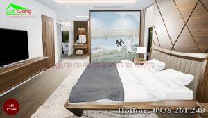 giường gỗ óc chó CT660b