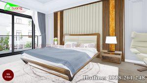 giường gỗ óc chó CT661