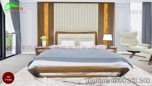 giường gỗ óc chó CT661d